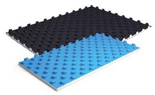 Теплоизоляция (маты с фиксаторами) для водяного теплого пола
